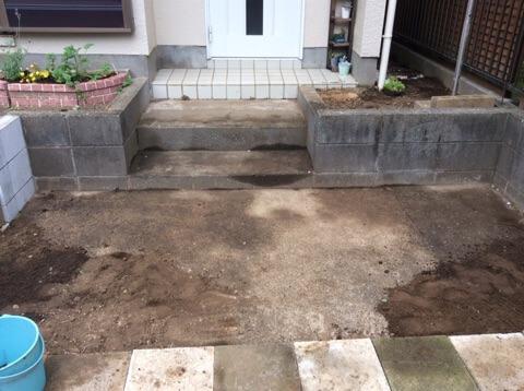 玄関前改造2