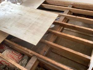 床の張り替え2 DIY
